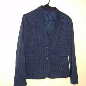 Tommy hilfiger blue pinstripe suit jacket. Size 10